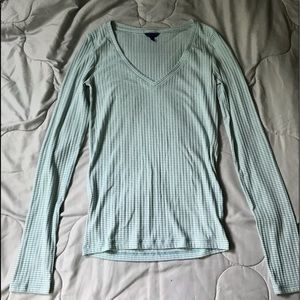 aeropostale blue and white striped long sleeve
